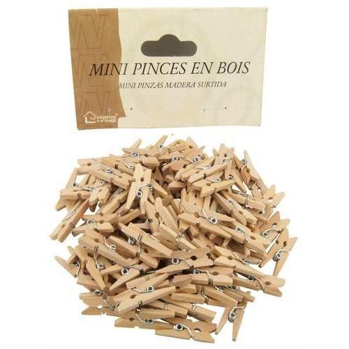 les 100 mini pinces en bois de d coration achat vente. Black Bedroom Furniture Sets. Home Design Ideas