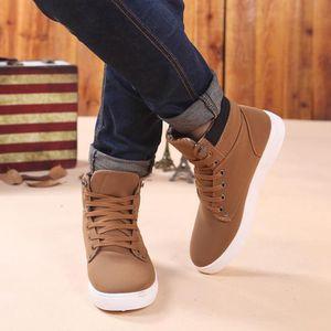 Benjanies®Mode Oxfords Loisirs bottes haut de basket Sneakers pour hommes Kaki_XMM71007901KH Vert Kaki - Achat / Vente botte  - Soldes* dès le 27 juin ! Cdiscount