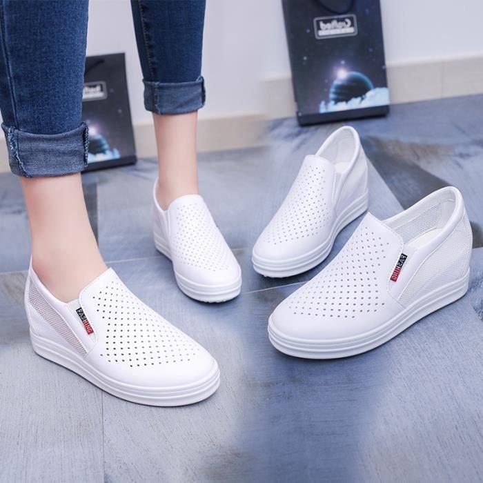 Chaussures en noir coins cuir mode bottes bottes augmentation dames de bottines casual chaussures mode 39 4xqwr4R