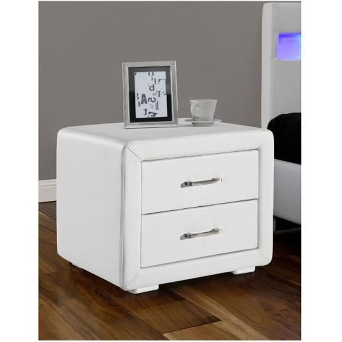 chevet blanc simili achat vente pas cher. Black Bedroom Furniture Sets. Home Design Ideas