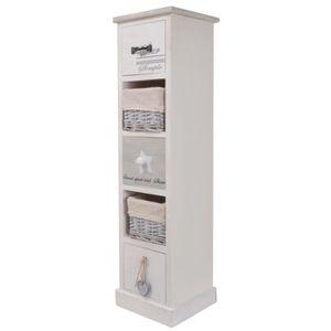 Rangement salle de bain achat vente rangement salle de for Petit meuble salle de bain en bois