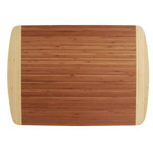 TOTALLY BAMBOO BICOLORE FINE Planche ? découper avec rigole BA201252 45x32 cm marron et beige