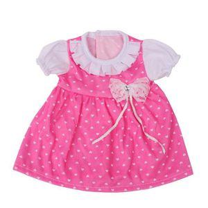 achats répliques prix abordable Robe rose 18 pouces Accessoire fille Toy Doll Accessoire pour poupée  American Girl_huaa9525