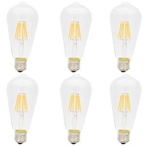 AMPOULE - LED 6X E27 Ampoule Edison Retro 6W Ampoule Filament LE