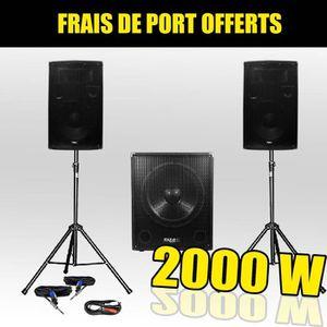 PACK SONO Pack 1512 Sonorisation 2000W Caisson bi-amplifié