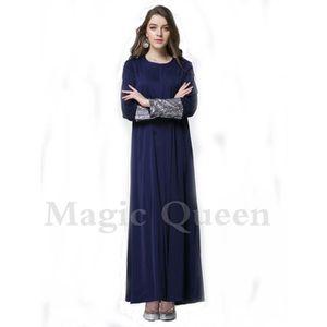 ROBE robe femme musulmane avec manches à paillattes vet