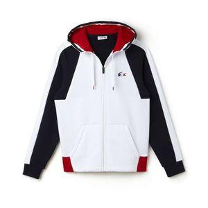 3808fb2e27 SWEATSHIRT LACOSTE SH0632 Blanc Blanc - Achat / Vente sweatshirt ...