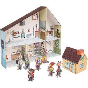 maison poupee carton achat vente jeux et jouets pas chers. Black Bedroom Furniture Sets. Home Design Ideas