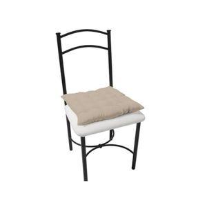 COUSSIN DE CHAISE  Dessus de chaise capitonné ALIX taupe