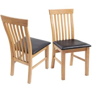 chaise en bois chene massif achat vente chaise en bois chene massif pas cher cdiscount. Black Bedroom Furniture Sets. Home Design Ideas