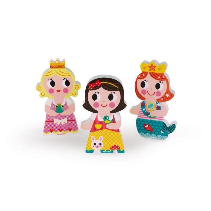 JANOD Puzzle magnétique Funny ''Princesses''