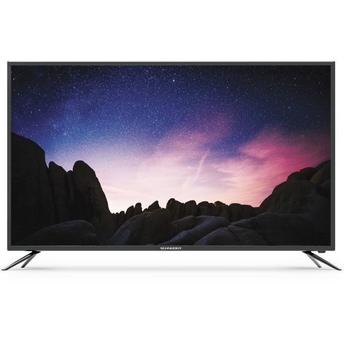 Schneider led65 sc1000k tv led 4k uhd 65 smart tv wifi 3 x hdmi 2 x usb classe énergétique a