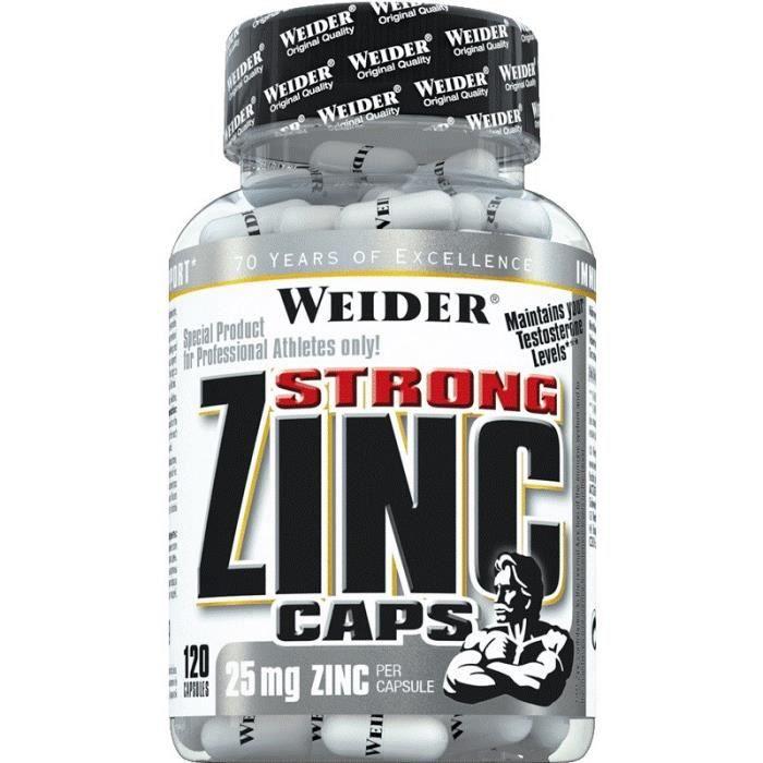 WEIDER Sachet de Strong Zinc Caps 120 Gélules