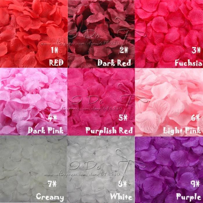 Modele 7 Petales De Rose Mariage Decoration Fleurs Artificielles
