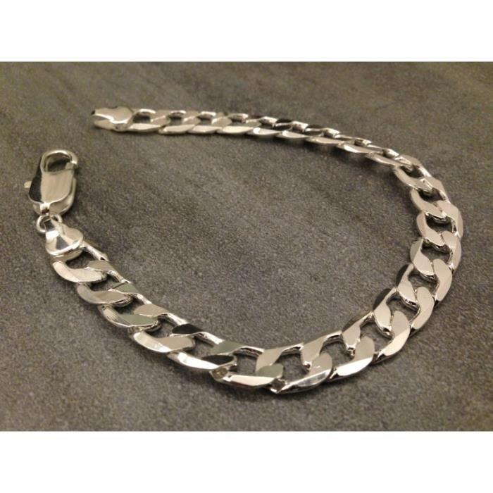 Gourmette / Bracelet Large ll Argent Homme