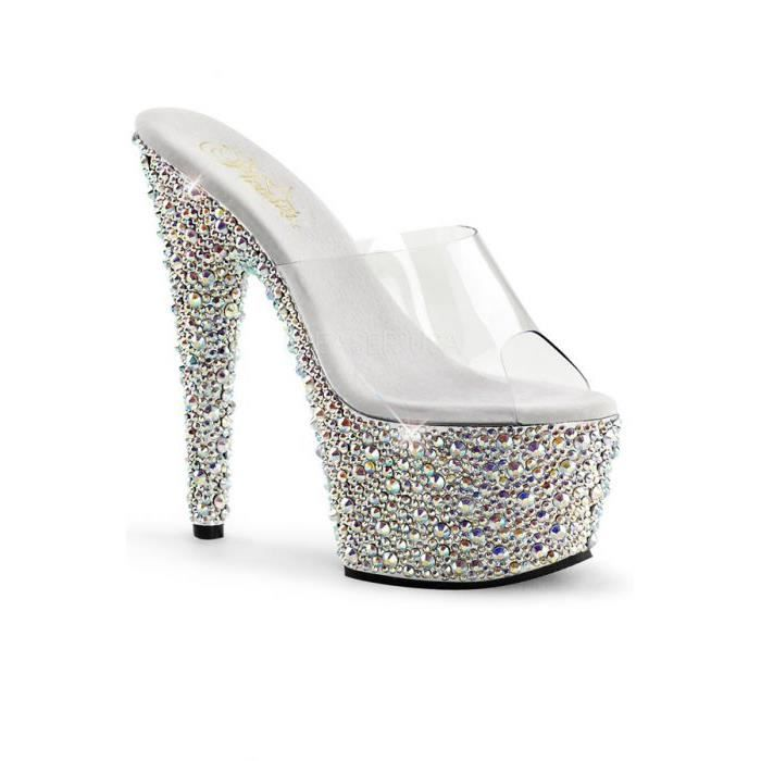 BEJEWELED -Chaussures Platefor... Argent/tran...