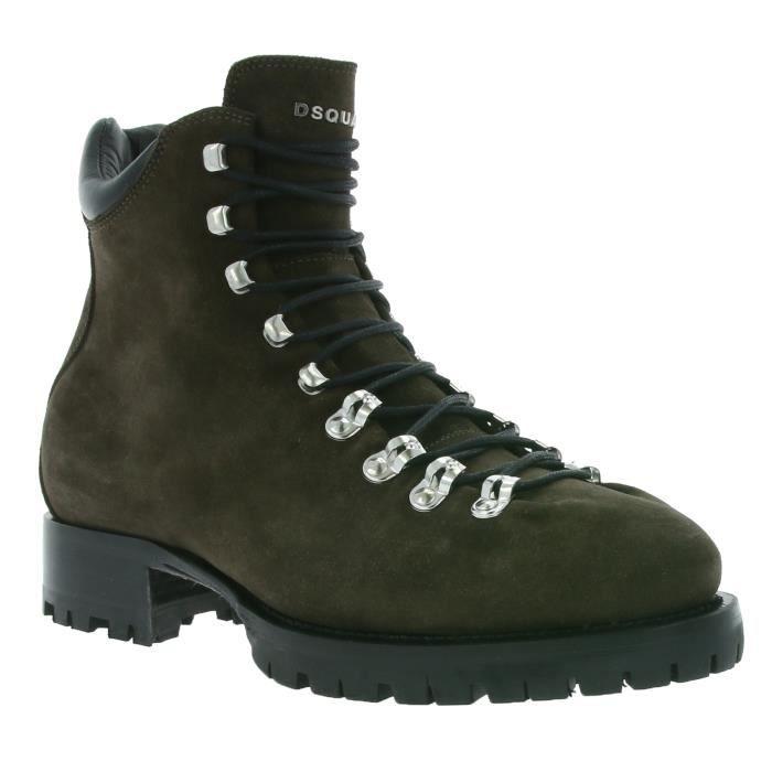 DSQUARED2 Lace Up boots Hommes en cuir véritable Bottes Marron W16LA123 016 5081