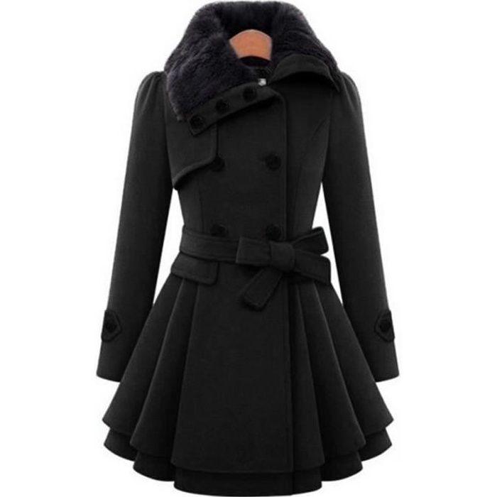 manteau coupe patineuse achat vente pas cher. Black Bedroom Furniture Sets. Home Design Ideas