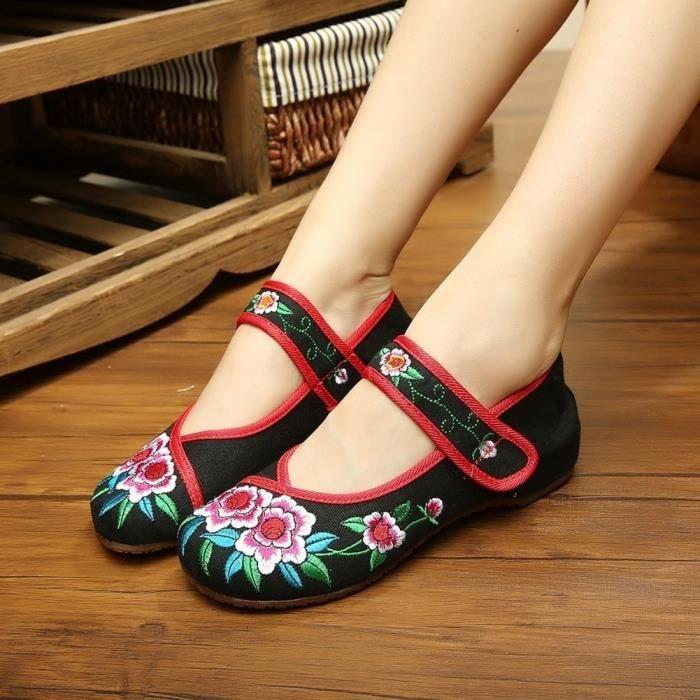 XZ664B6XZ664B6Femmes Chaussures de conduite Casual Slip sur Mocassins brodé de fleurs Sandal Hot