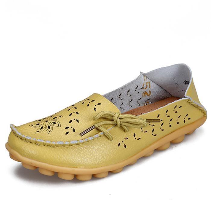 Chaussures Femmes Printemps Été Ultra Leger plate Chaussures DTG-XZ061Noir40 Ohp7W