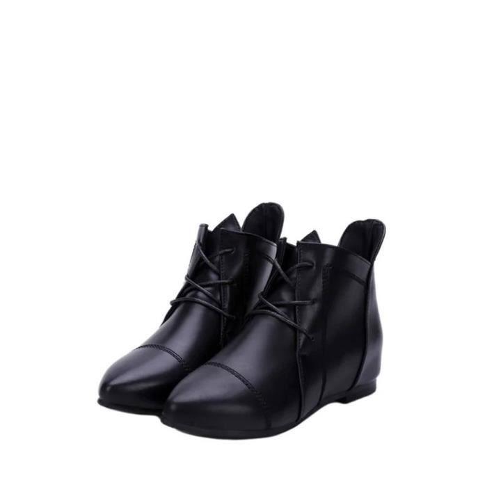 Bottes de cheville de femmes style bref Trendy Tous Pointu Assorti Toe Comfy Chaussures plates 9396320