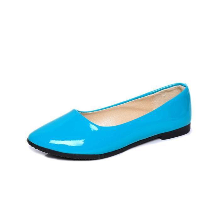 Moccasin Femme Nouvelle Mode Chaussures Pour Femmes RéSistantes à L'Usure chaussures plates Plus De Couleur 35-42,bleu,36