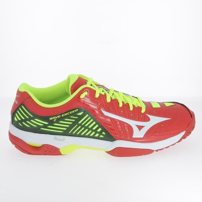 new style b3ad6 a7b89 CHAUSSURES DE TENNIS Tennis - Multisports MIZUNO Wave Exceed Rouge Jaun
