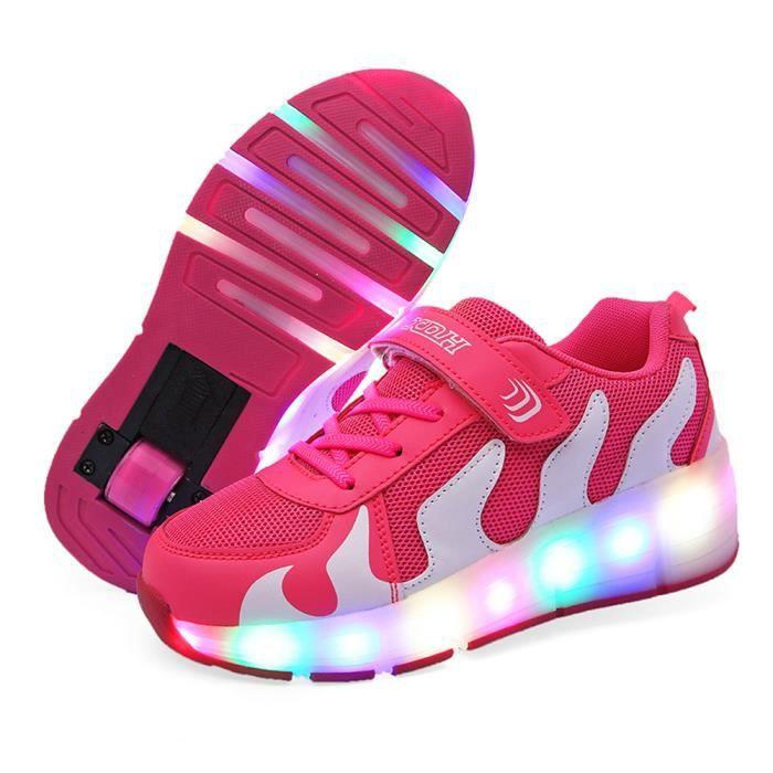 dddd2ea8562c8 Chaussures Heelys LED lumiere Enfants Roulettes Sneaker avec une ...