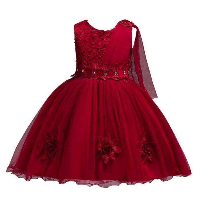 5a8a3a424d9 Robe de Soirée Fille Enfant de Costume de Princesse Robe Dentelle Halloween  Costumes - 01