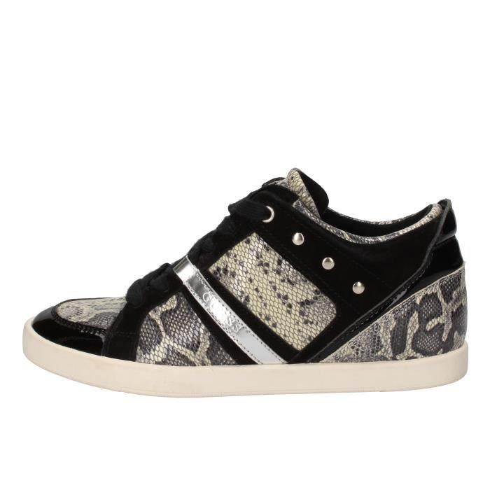Guess Noir Ae934 Femme Baskets Chaussures rY4q6rwnv