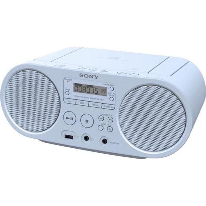 14f7a4bd2e375c Radio CD SONY ZS-PS50 Bleu - radio cd cassette, avis et prix pas ...