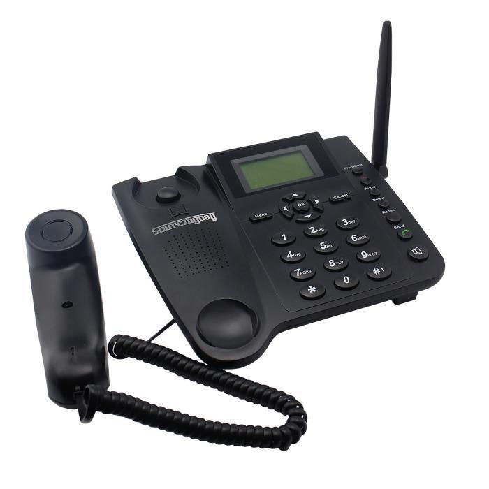 Stisfacargo Sans Fil Gsm Telephone De Bureau Avec La Carte