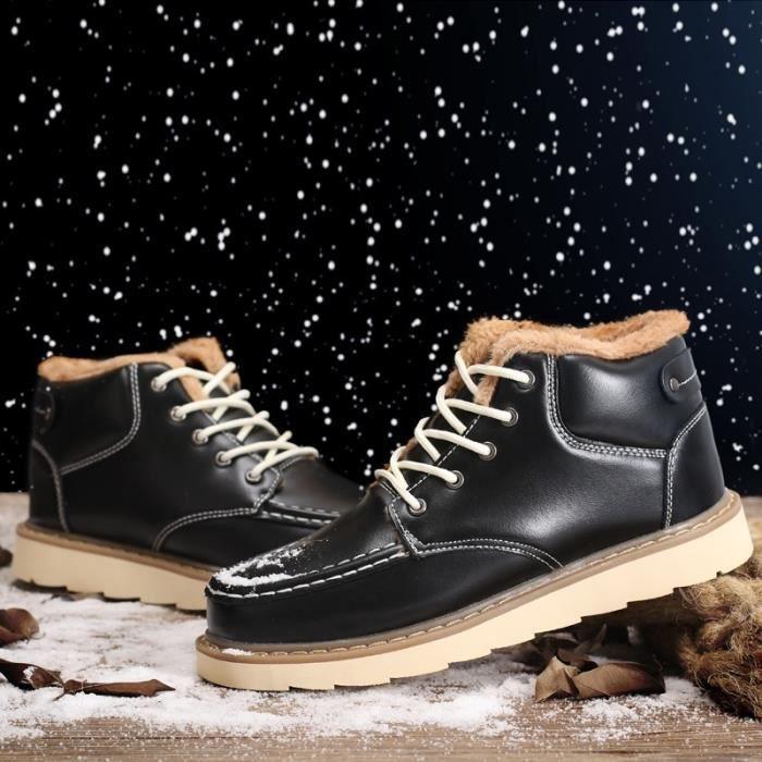 Hot récent Garder au chaud Hommes Bottes d'hiver de haute qualité en cuir Casual Bottes de travail Bottes Fahsion essentielles