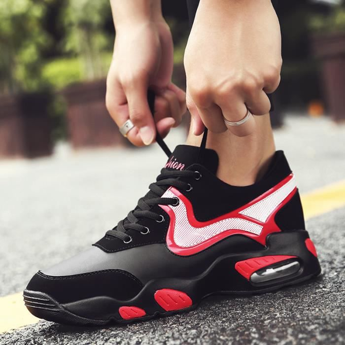 Chaussure Basket Hommes,Nouvelles chaussures de sport, mode, chaussures occasionnelles, chaussures de plein air, noir