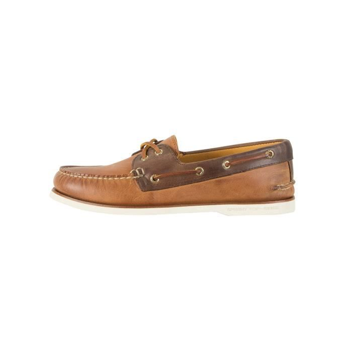 Sperry Top-Sider Homme Gold A / O 2-Eye Chaussures bateau, Marron