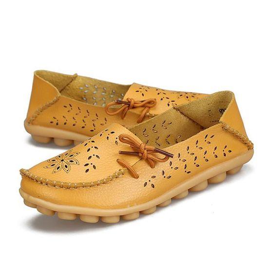 Mocassin Femmes Printemps Ete Mode Jaune Classique Plat Chaussure BXX-XZ086Jaune35 Jaune Mode Jaune - Achat / Vente escarpin dea239