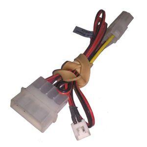 CÂBLE D'ALIMENTATION Câble Adaptateur Molex Mâle/Femelle + 2-Pin Ventil