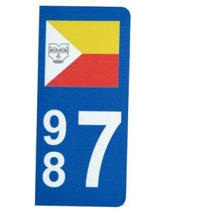 PLAQUE IMMATRICULATION Autocollant Plaque d immatriculation drapeau Marqu