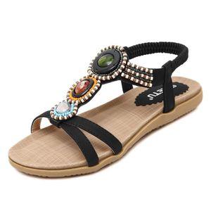 Napoulen®Femmes doux Chaussures de broderie épaisses pieds en bas populaire Rouge-XYM70906908RD trc4gWsrtb