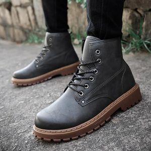 Vintage Tide loisirs Bottes britannique Hommes style Hommes lacent cheville Bottes Simple Chaussures Taille,marron clair,8.5