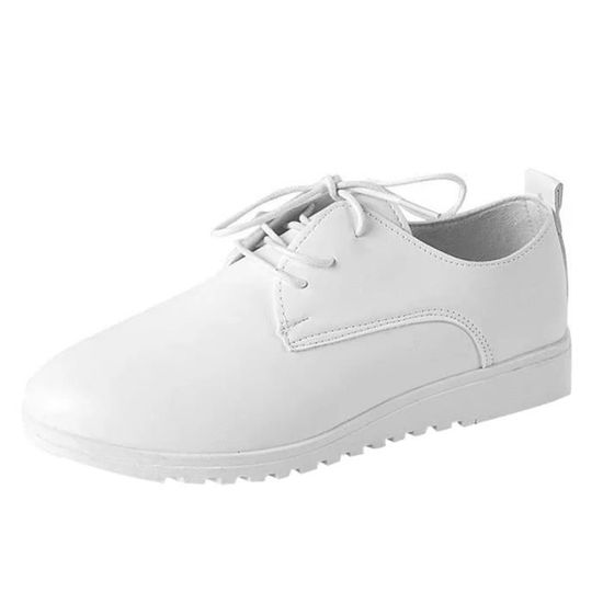 Deuxsuns®Femmes Shallow Bowknot Bout Carré Flat Low Heel Slip On Chaussures Simple Chaussures@Beige Blanc Blanc - Achat / Vente slip-on