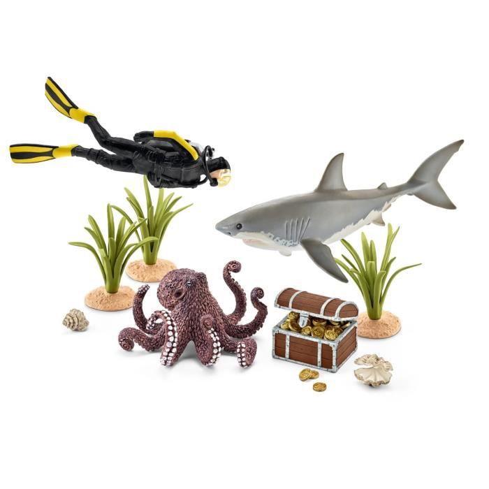 SCHLEICH Plongeur à la Recherche d'un Trésor