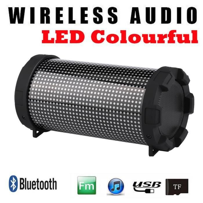 Haut-parleur Portable Bluetooth Led Mini Sans Fil De Musique Fils Lecteur Colum @los460