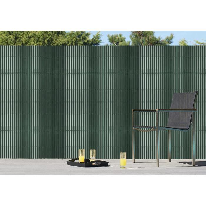 Brise vue pvc couleur vert 1x 3 m achat vente cl ture for Brise vue cdiscount