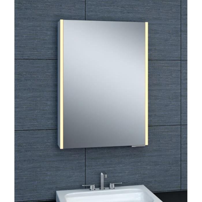 Armoire de toilette aluminium - Modèle NEVIS 50 - 70 cm x 50 cm (HxL ...