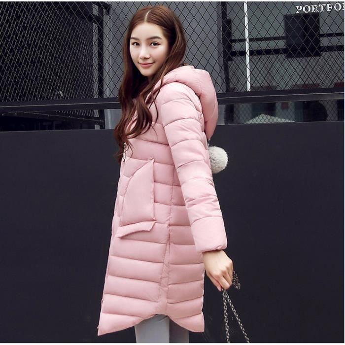 Doudoune 2016 Chaud De Veste gris Rose Coton Hiver Coréenne bleu Longue Femmes rwRrgqx