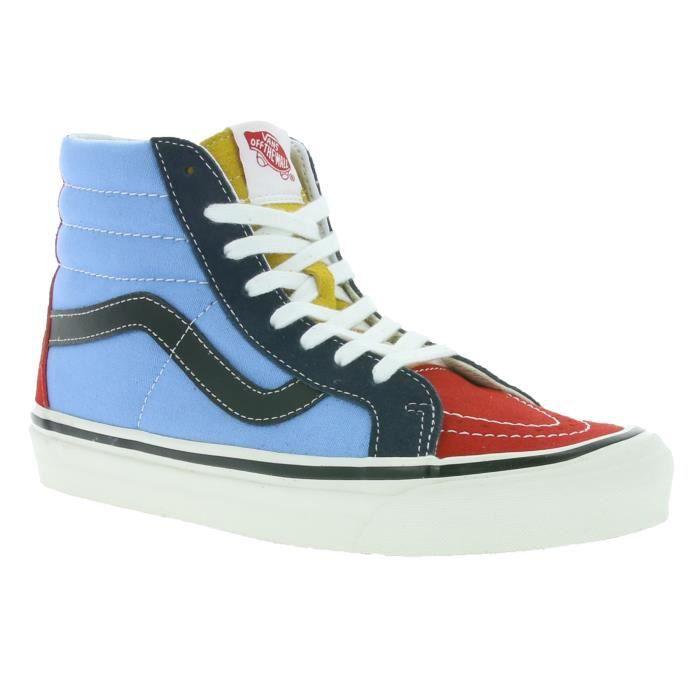 vans sk8 hi bleu rouge