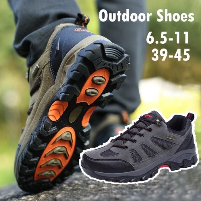 Bottes pour Hommekaki 45 Mode plein air Trekking Chaussures de randonnée de montagne imperméables Chaussures d'escalad_46393 D1Aba7hLn