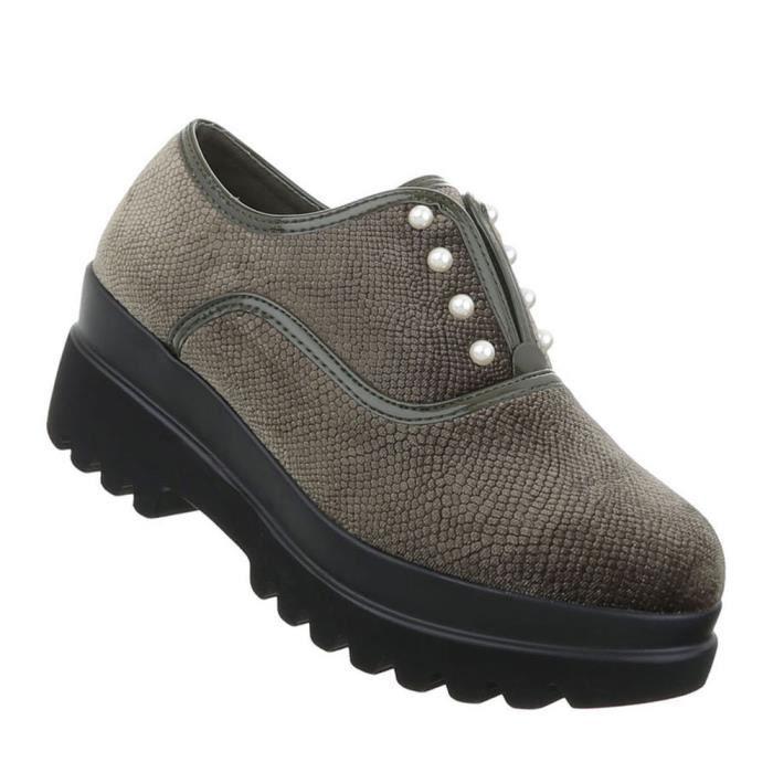 Chaussures femmes flâneurs moderne vert 41