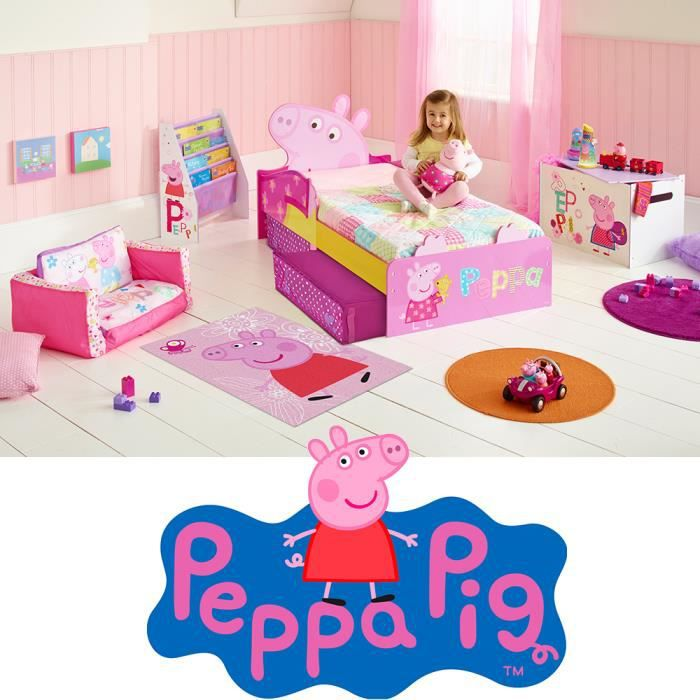 Chambre enfant Peppa Pig cochon rose déco mixte - Achat / Vente ...
